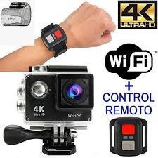 video camara deportiva 4k con control wifi 16 mpx sumergible