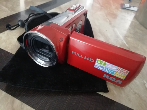 video cámara digital portátil rca full hd 8x ez5162rd