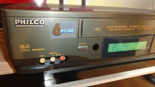 video cassete philco pvc-hf12- hi-fi 6 cabeças- funcionando