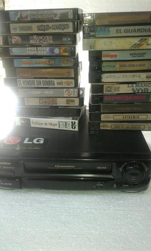 video cassetera lg con 5 clásicos en vhs