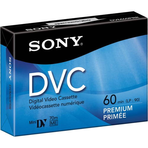 video cassette digital sony mini dv 60min dvc dvm60prr b