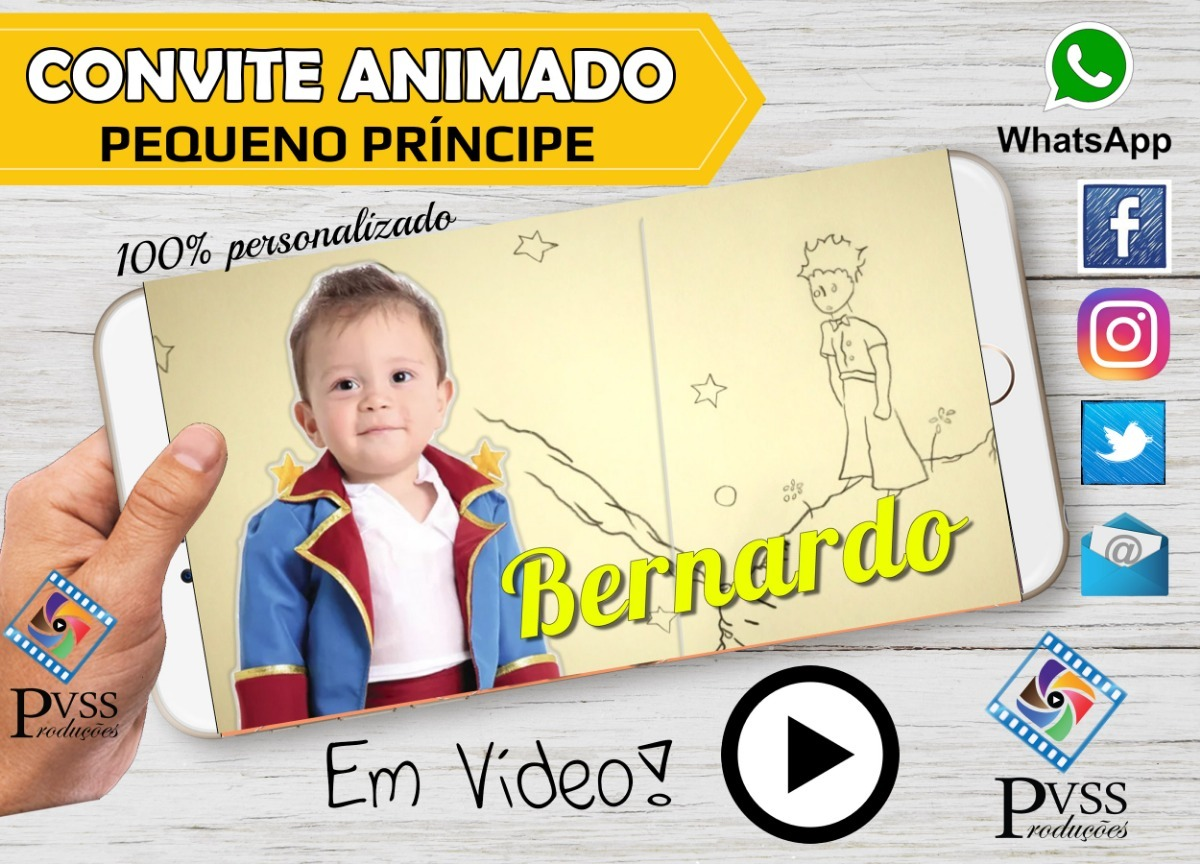 Video Convite Animado Pequeno Príncipe