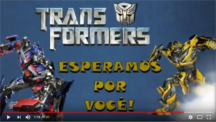 Video Convite Digital Animado Transformers R 3000 Em Mercado Livre