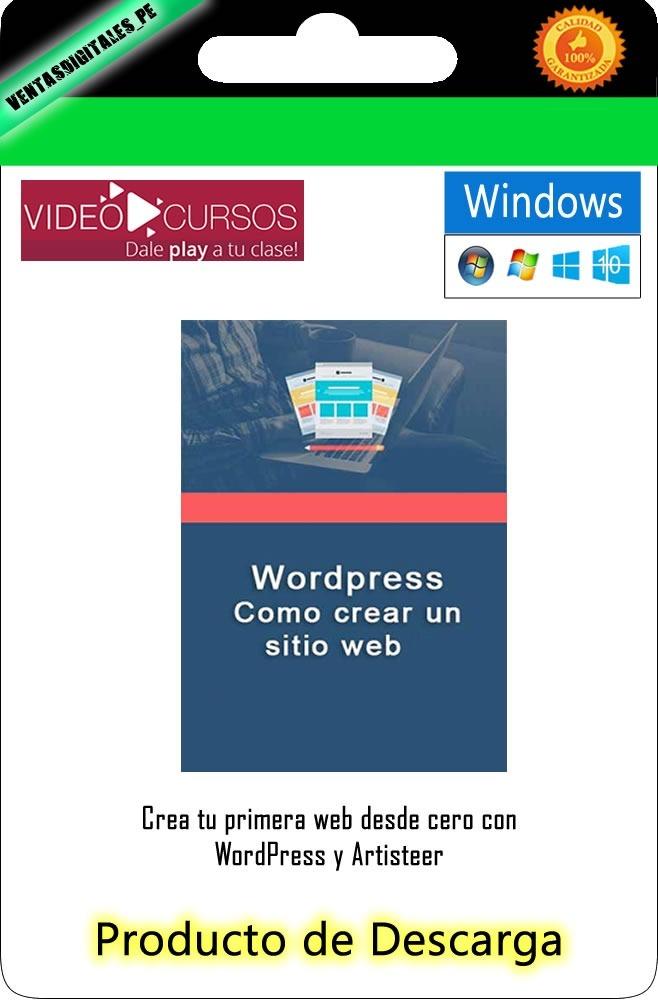 Video Curso Como Crear Una Pagina Web En Wordpress - S/ 20,00 en ...