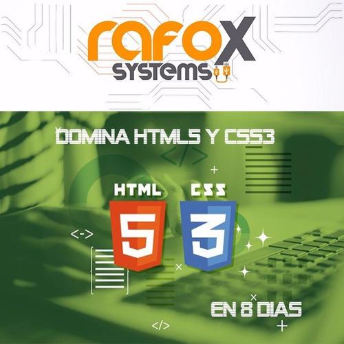 vídeo curso domina html5 y css3 en 8 días