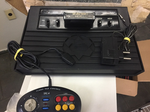 vídeo game atari 2600 dactar com led de luz adaptado