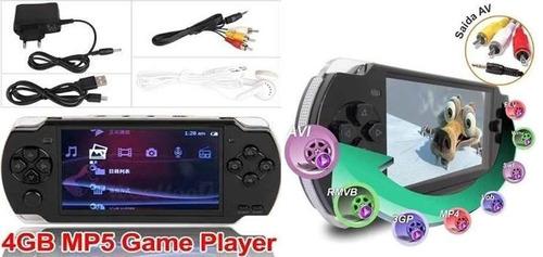 video game portátil 10mil jogos player mp3 mp4 mp5