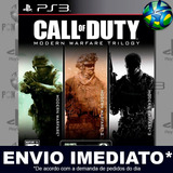 Call Of Duty Modern Warfare 1 / 2 / 3 - Ps3 - Envio Agora !!