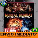 Ps3 Mortal Kombat Komplete Edition Código Psn Envio Agora