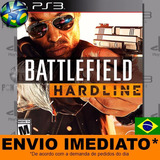 Ps3 Battlefield Hardline Bfh Código Psn Dublado Envio Agora