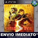 Ps3 Resident Evil 5 Gold Edition Código Psn Envio Agora