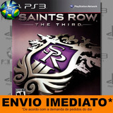 Jogo Ps3 Saints Row The Third Código Psn Mídia Digital
