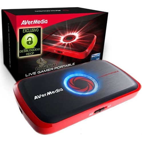 video gravador de mesa avermedia gamer capture portable hdmi