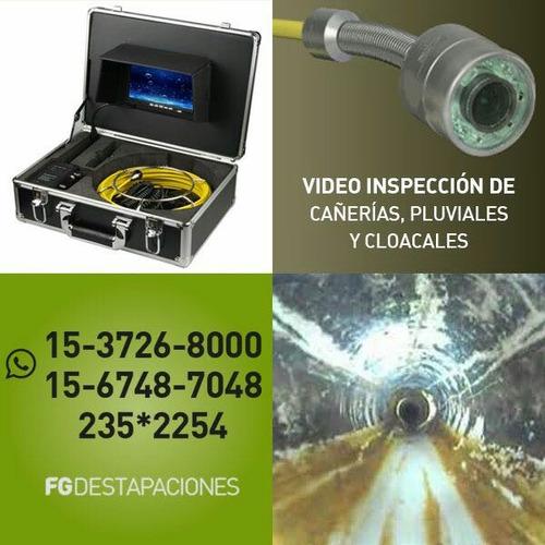 video inspeccion de cañerías ,cloacales,pluviales,columnas