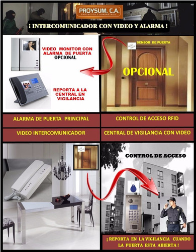 video intercomunicador edificio 20 aptos 5 pisos / alarmas