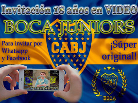 Video Invitación 18 Años Boca Juniors 2 Fotos