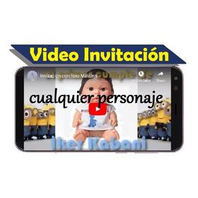 Video Invitacion Cualquier Personaje/tema Con Fotos