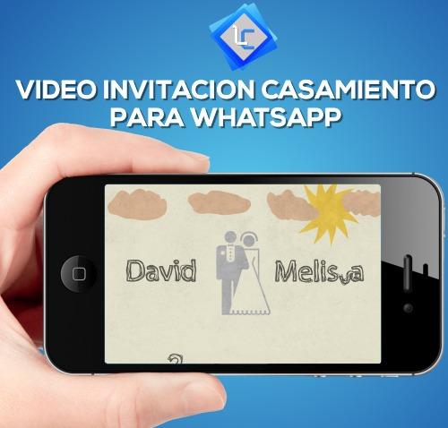 Video Invitación Digital Animada Casamiento Tarjeta Digital