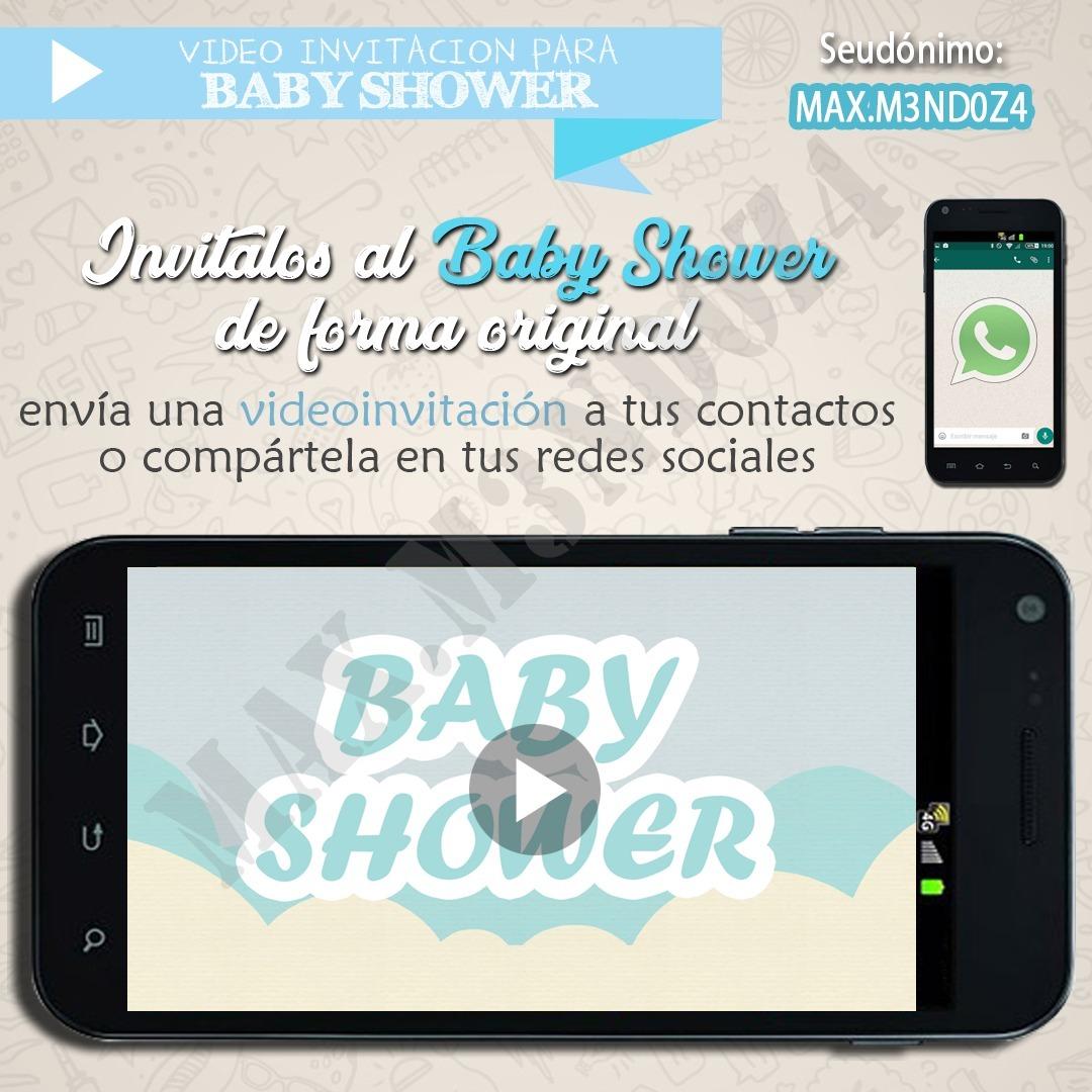 Video Invitacion Digital Animada Para Baby Shower S 15 00 En