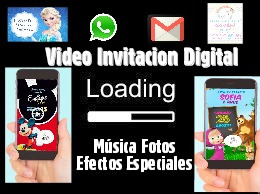 video invitacion digital personalizado