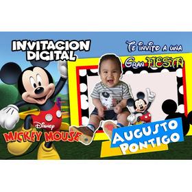 Video Invitacion Personalizada De Mickey