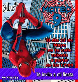 Video Invitación Spiderman Personalizada 100
