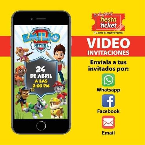 video invitaciones para cualquier tipo de evento