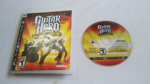 video juego original guitar hero world tour ps3