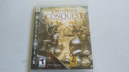 video juego original the lord of the rings conquest ps3