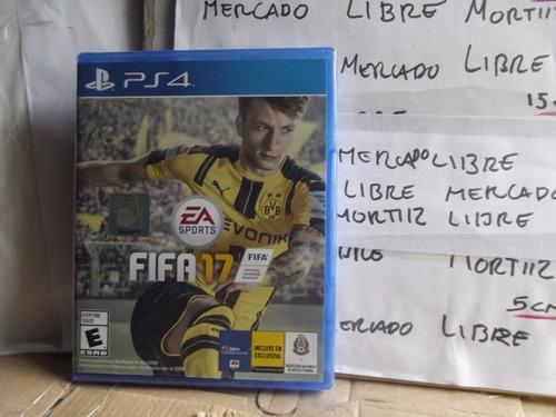video juego ps4 físico fifa 17 ea sports nuevo sellado