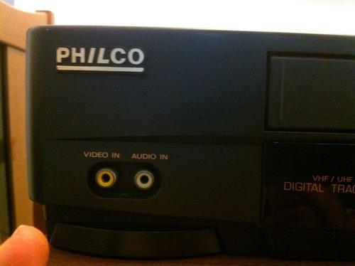 video k7 4 cabeças philco pvc-9400 c/ contr. remoto revisado