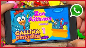 Video La Gallina Pintadita Invitacion Digital Cumple Años