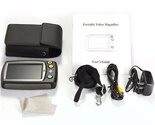 video lupa eletronica portatil led 4.3