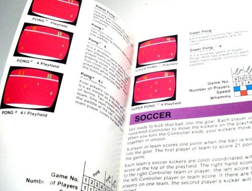 video olympics  game program -  manual do jogo -  atari 2600