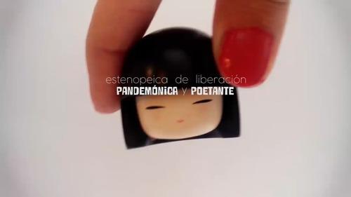 video pandemónica y poetante. actuación.