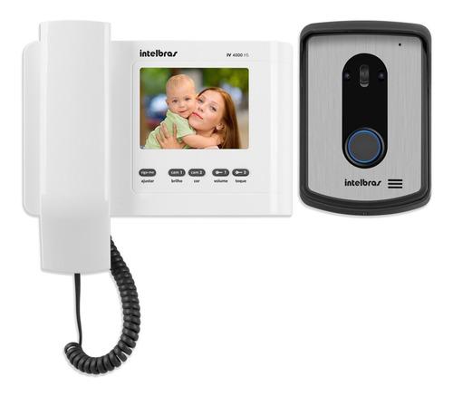 vídeo porteiro intelbras iv 4010-hs colorido ac. fechadura