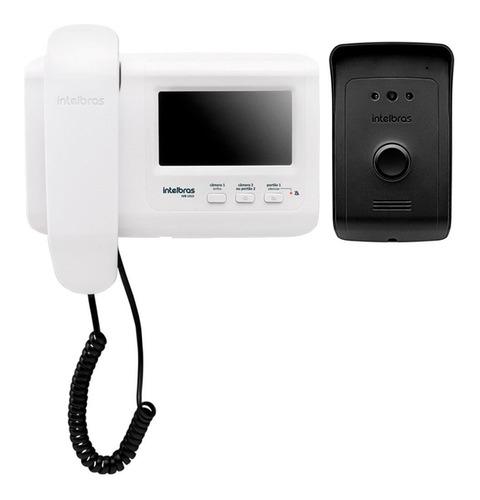 vídeo porteiro intelbras ivr 1010 monitor 4.3  branco