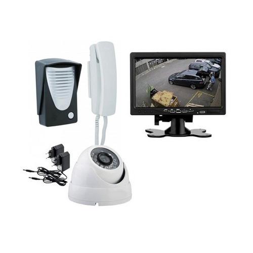 vídeo porteiro kit c/ tela 7 câmera e porteiro
