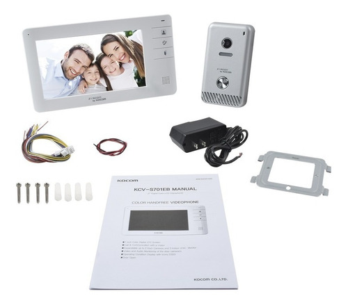 video portero a color monitor 7 pg frente de calle metálico