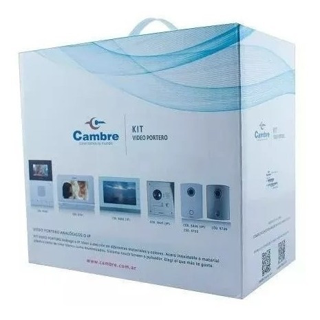 video portero cambre 55000 pantalla lcd color 4.3 blanco