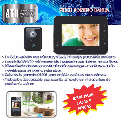 video portero ip marca dahua. 3106891766