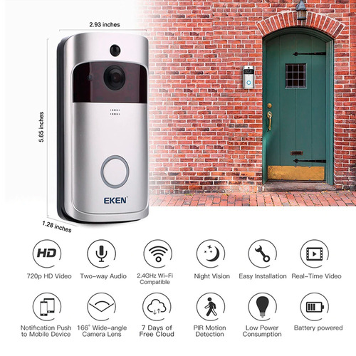 video portero timbre wifi interfon cámara kit completo bater