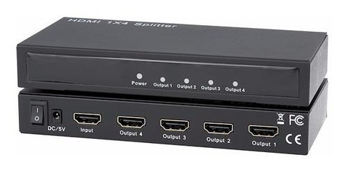 video splitter hdmi 1x 4 puertos 4p / despacho gratis