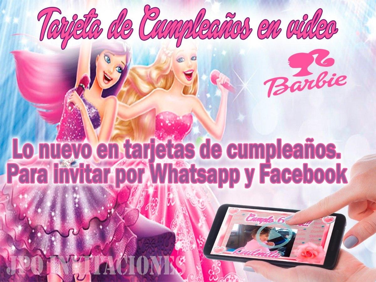Video Tarjeta Invitación Cumpleaños Barbie 2 Fotos