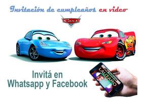 Video Tarjeta Invitación Cumpleaños Cars 3 Fotos