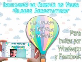 Video Tarjeta Invitación Cumpleaños Globos Aerostáticos
