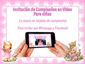 Video Tarjeta Invitación Cumpleaños Las Niñas 2 Fotos