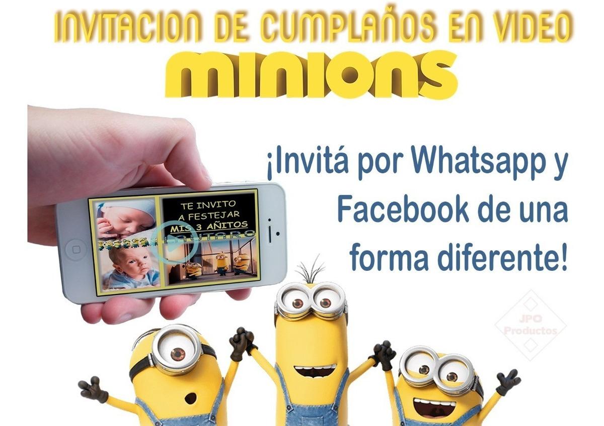 Video Tarjeta Invitación Cumpleaños Minions 6 Fotos