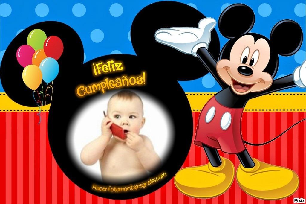 Vídeo Tarjeta Invitación Digital Cumpleaños Mickey Mouse