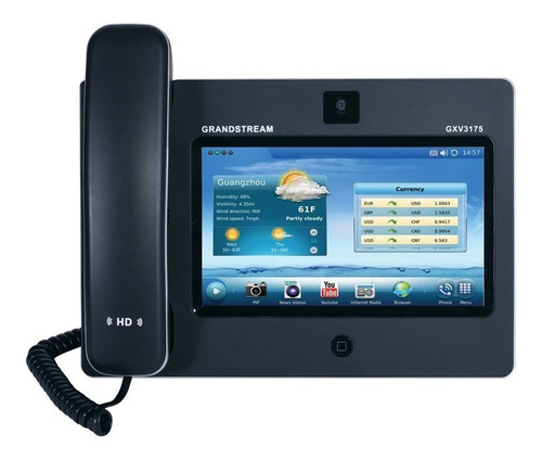 video telefono touchscreen ip multimedia grandstream gxv3175